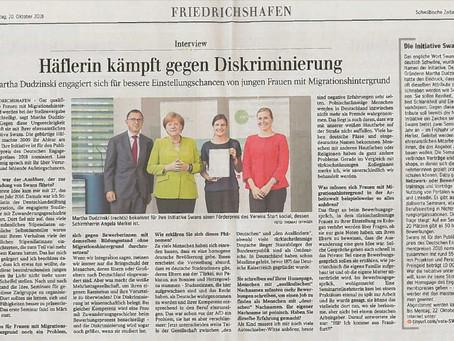 Schwäbische Zeitung: Häflerin kämpft gegen Diskriminierung