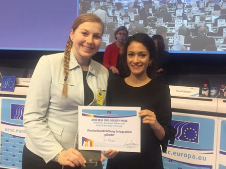 SWANS gewinnt zweiten Platz beim Zivilgesellschaftspreis 2018 des EWSA