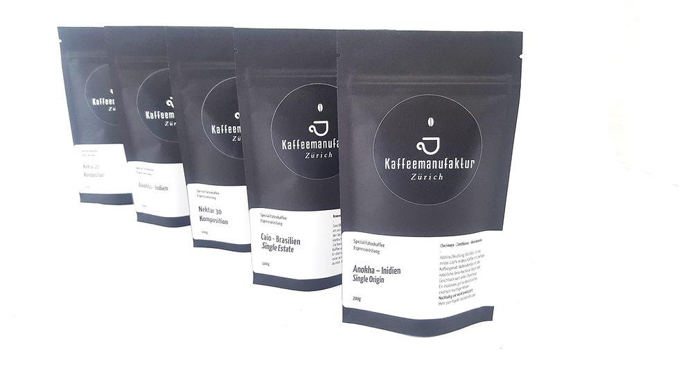 Kaffee Degustation- & Geschenkset