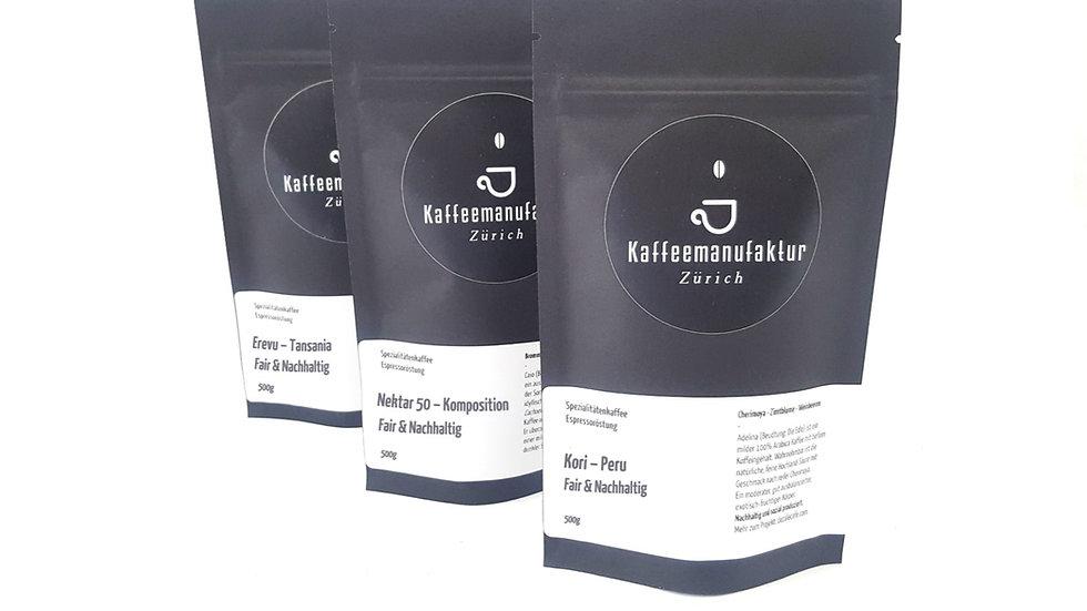 Nachhaltig und Fair: Kaffee-Trio