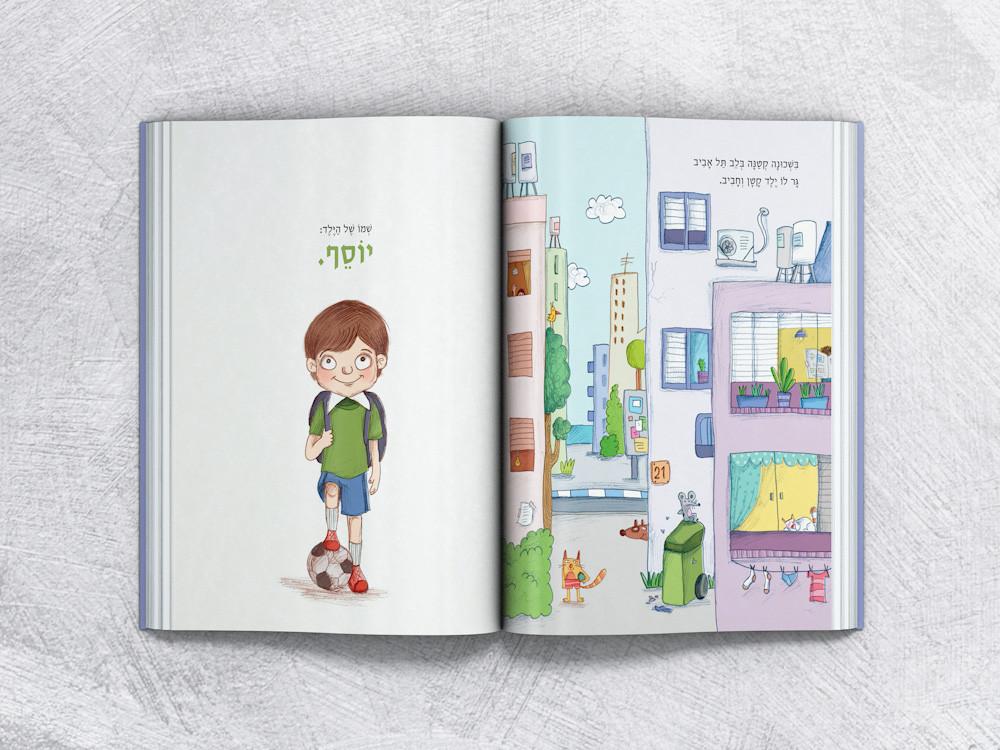 דוגמה לעיצוב כפולת עמודים