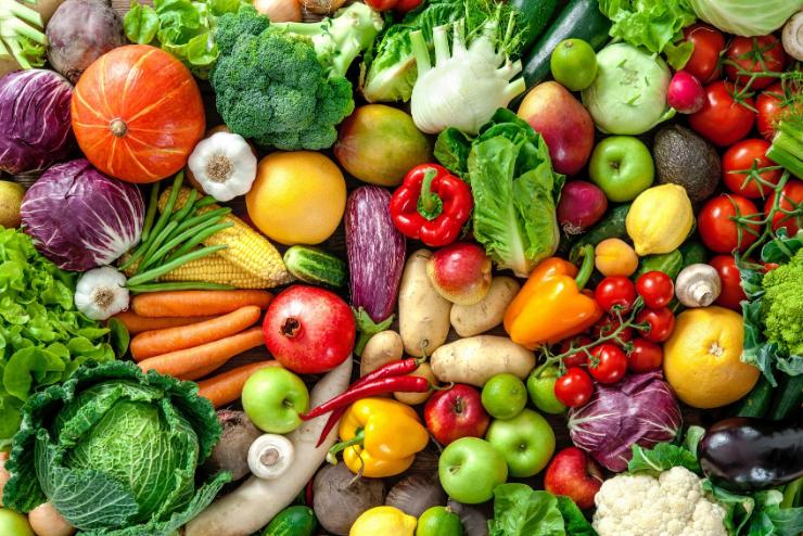 dużo warzyw