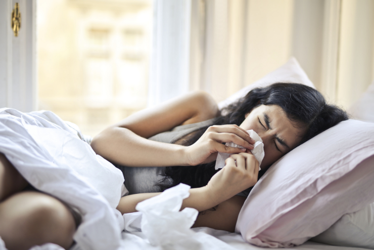 sen pomaga złagodzić przeziębienie