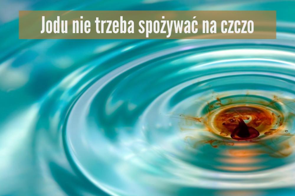 jod w wodzie