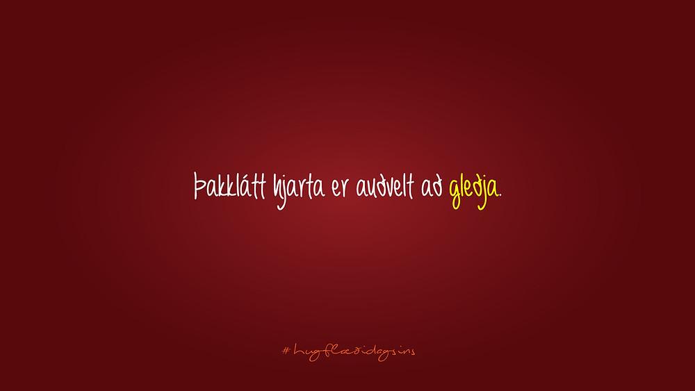 Þakkglatt - Hugflæði dagsins