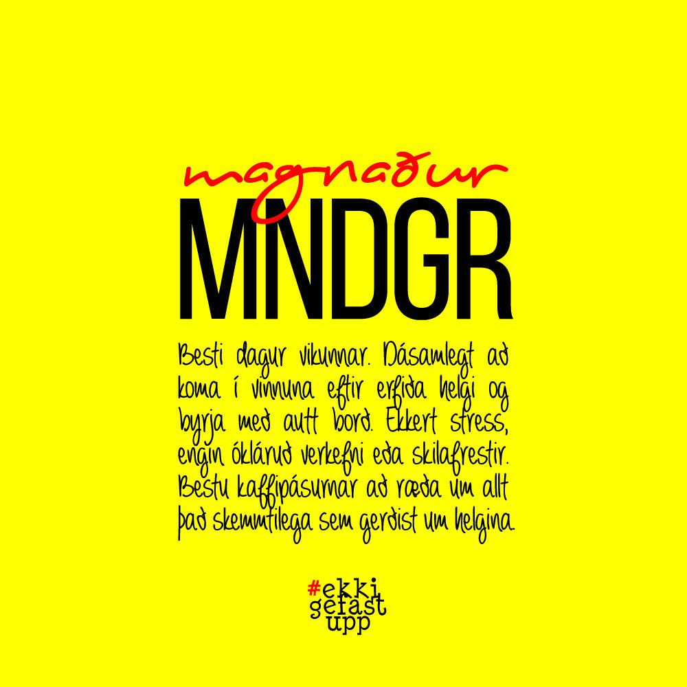 Magnaður mánudagur