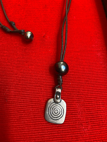 Moroccan Silver and Tahitian Pearl