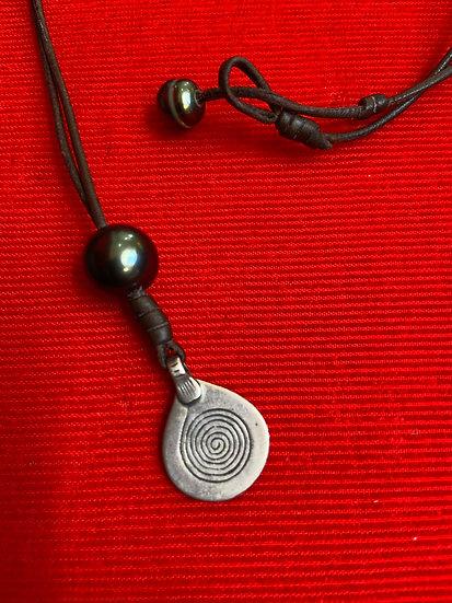 Moroccan Silver & Tahitian Pearl