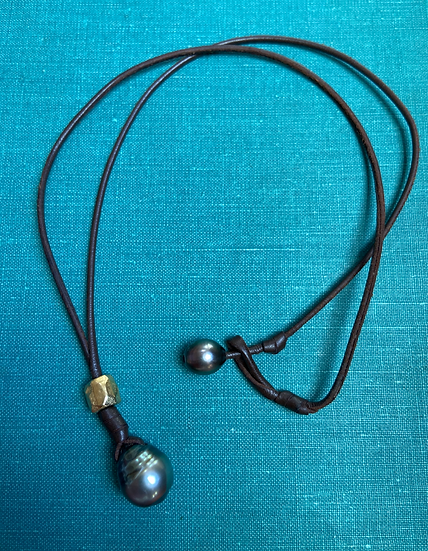 Tahitian Pearl with Gold