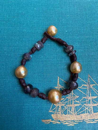 South Sea Pearls & Labadorite