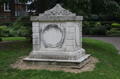 Tomb 10 m south of chancel, St Mary's Churchyard