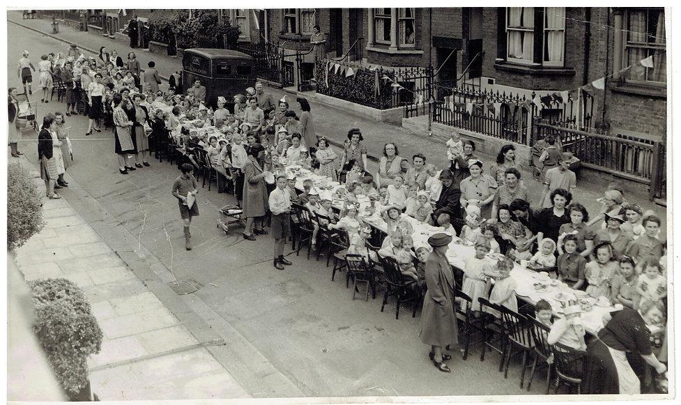 V E Day 1945 - Street Party in Gladstone