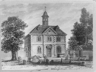Elizabeth Fuller Free School - J Buckler Print 1830