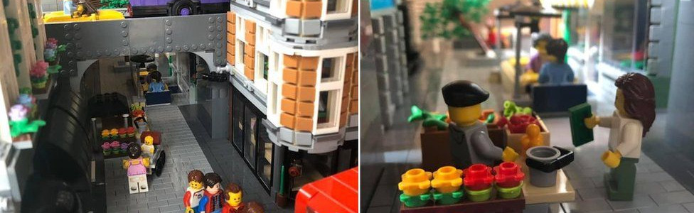 'Lockdown Lego' Watford High Street made in Canada