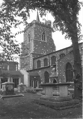St Mary's Church (during buillding)