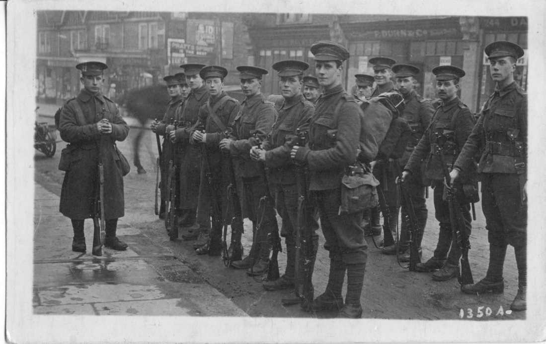 WW1 Troops on St Albans Road nr Yarmouth