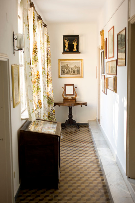 the corridor upstairs