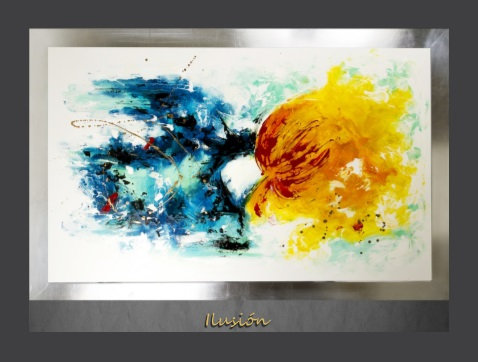 Cuadro pintado al Oleo, modelo Ilusión