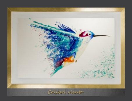 Cuadro pintado al Ole modelo Colibri Viento