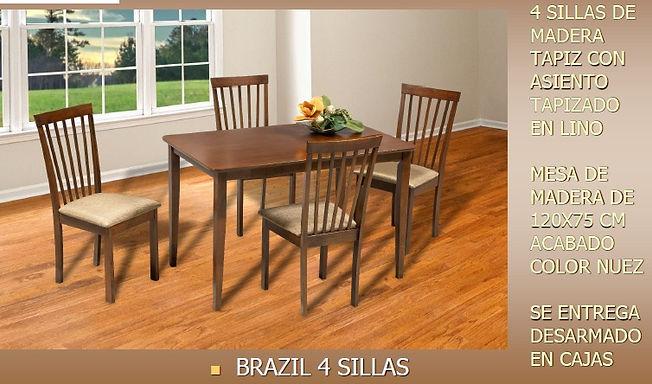 Comedor Brazil 4 Sillas