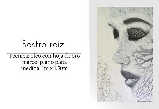 Cuadro pintado al Oleo modelo Rostro Raiz