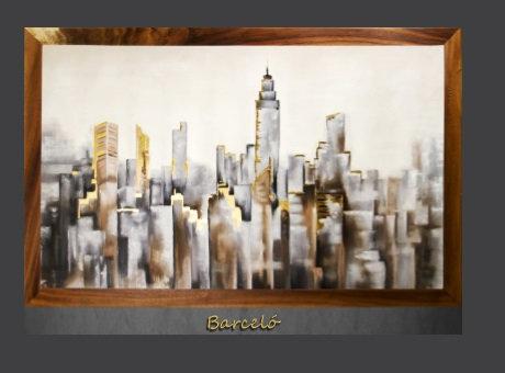 Cuadro pintado al Oleo modelo Barceló