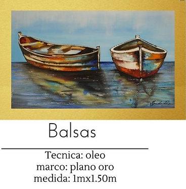 Cuadro pintado al Oleo modelo Balsas