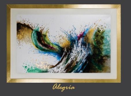 Cuadro pintado al Oleo modelo Alegria