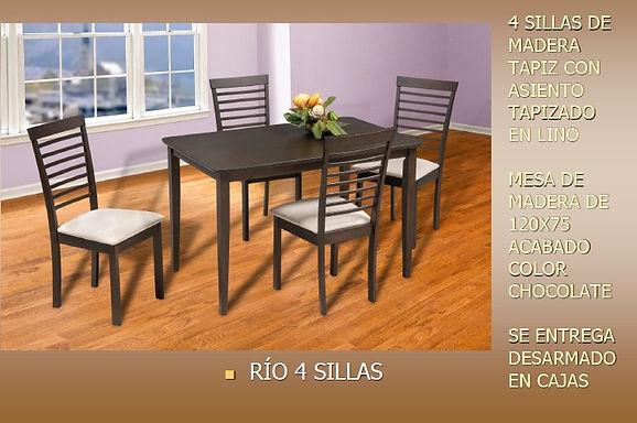 Comedor Rio 4 sillas