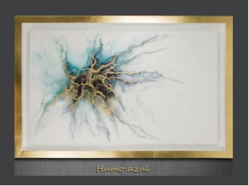 Cuadro pintado al Oleo, modelo Humo Azul