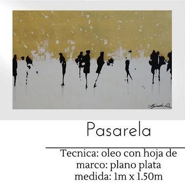 Cuadro pintado al Oleo modelo Pasarela