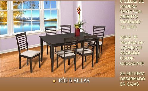Comedor Río 6 Sillas