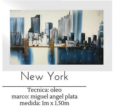 Cuadro pintado al Oleo modelo New York