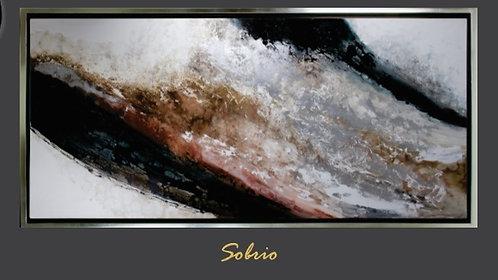 Cuadro pintado al Oleo, modelo Sobrio