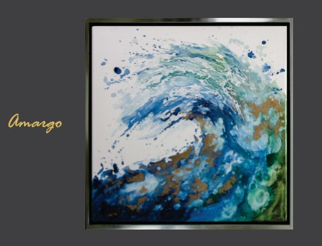 Cuadro pintado al Oleo modelo Amargo