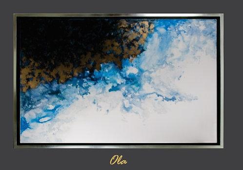 Cuadro pintado al Oleo, modelo ola