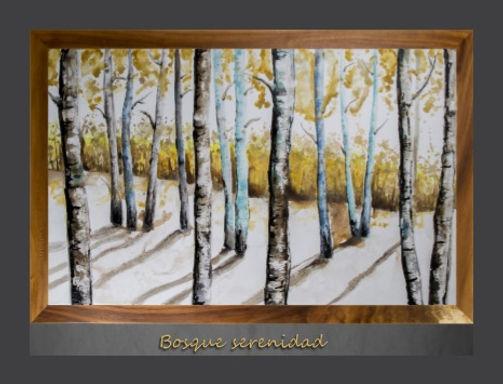 Cuadro pintado al Oleo modelo Bosque Serenidad