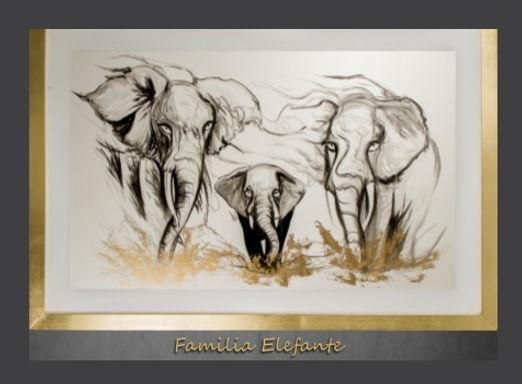 Cuadro Familia Elefante