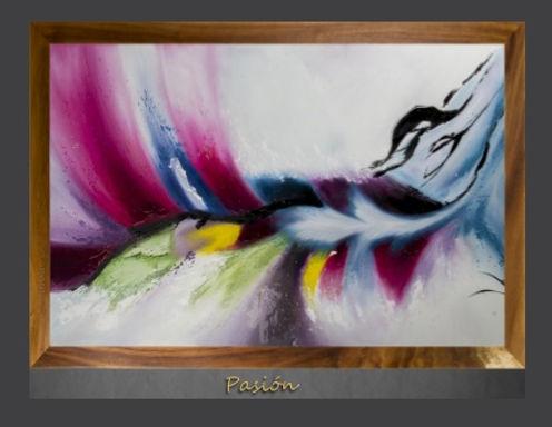 Cuadro pintado al Oleo, modelo Pasión