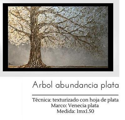 Cuadro Arbol Abundancia Plata