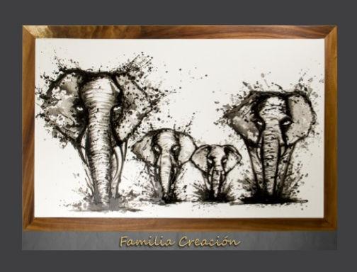 Cuadro pintado al Oleo modelo Familia Creación
