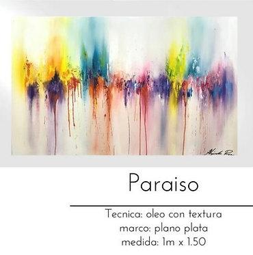 Cuadro pintado al Oleo modelo Paraiso