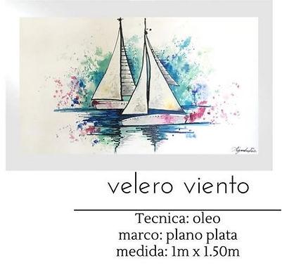 Cuadro pintado al Oleo modelo Veleros Viento
