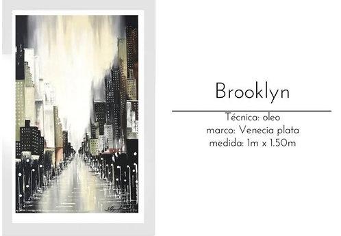 Cuadro pintado al Oleo modelo Brooklyn