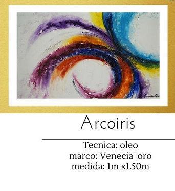Cuadro pintado al Oleo modelo Arcoiris
