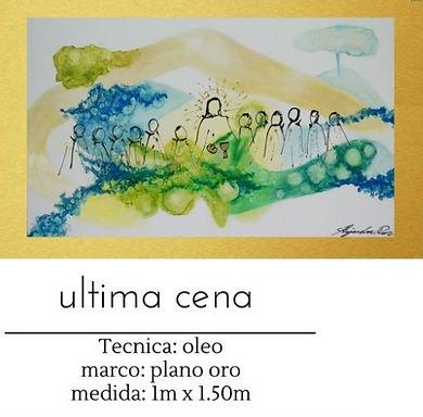 Cuadro pintado al Oleo modelo Ultima Cena