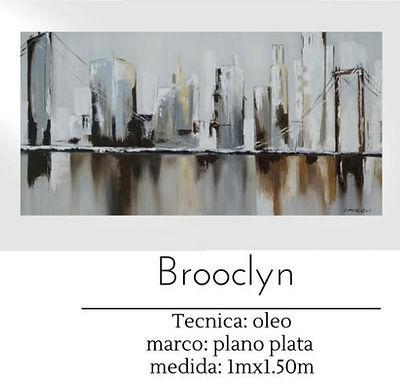 Cuadro pintado al Oleo modelo Brooclyn