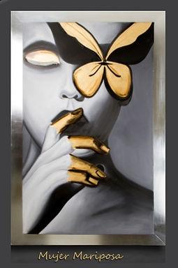 Cuadro Mujer Mariposa