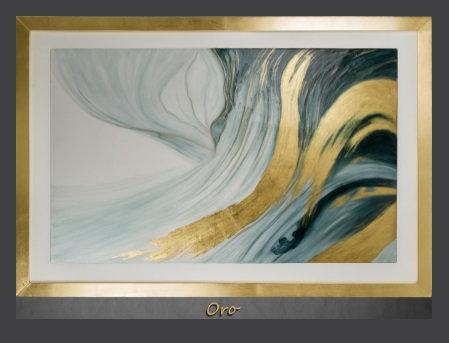 Cuadro pintado al Oleo, modelo oro