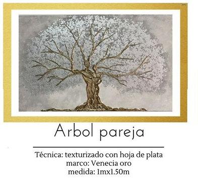 Cuadro pintado al Oleo modelo Arbol Pareja